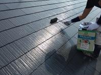 常陸太田市 O様邸 屋根塗装(下塗り・中塗り)