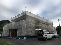 城里町 S様邸 屋根・外壁塗装(架設足場組立)