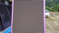 常陸大宮市 Y様邸 雨戸塗装(施工前・ケレン・下塗り・上塗り)