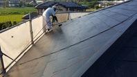 笠間市 M様邸 屋根塗装(上塗)