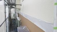 笠間市 M様邸 外壁塗装(中塗り)