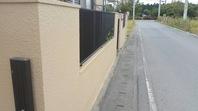 城里町 S様邸 塀塗装(下塗り・中塗り・上塗り)