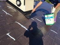 那珂市 M様邸 屋根塗装(施工前・下塗り・中塗り)