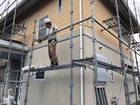 常陸太田市 S様邸 屋根・外壁塗装(架設足場組立)