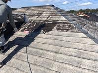 常陸太田市 S様邸 屋根塗装(下塗り・中塗り)