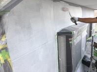 真岡市 T様邸 外壁塗装(下塗り・中塗り)
