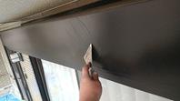 城里町 Ⅰ様邸 シャッターBOX塗装(ケレン・下塗り・中塗り・上塗り)