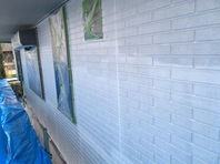 城里町 I様邸 外壁塗装(下塗り)