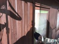 笠間市 M様邸 木製外壁・軒・破風塗装(上塗り)