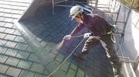 笠間市 M様邸 屋根塗装(下塗)