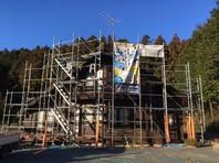 笠間市 M様邸 屋根・外壁塗装(架設足場組立)