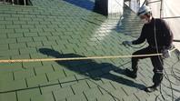 笠間市 M様邸 屋根塗装(中塗り・上塗り)