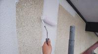 水戸市 M様邸 外壁塗装(下塗・中塗り)
