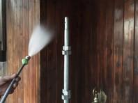 笠間市 M様邸 木製外壁塗装(高圧洗浄)