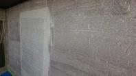 ひたちなか市 M様邸 外壁塗装(養生・下塗り・中塗り)