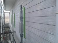 東海村 T様邸 外壁塗装(下塗り)