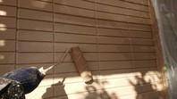 東海村 T様邸 外壁塗装(中塗り・上塗り)