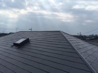 東海村 T様邸 屋根塗装(上塗り)