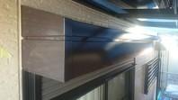 ひたちなか市 M様邸 シャッターBOX塗装(ケレン・下塗り・中塗り・上塗り)