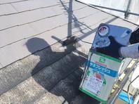 東海村 T様邸 屋根塗装(下塗り・中塗り)
