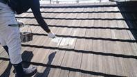 常陸太田市 U様邸 屋根塗装(下塗り)