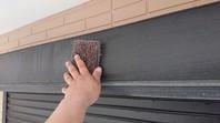 水戸市 T様邸 シャッターBOX塗装(ケレン・下塗り・中塗り・上塗り)