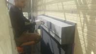 ひたちなか市 F様邸 シャッターBOX塗装(ケレン・下塗り・中塗り・上塗り)