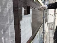 水戸市 M様邸 外壁塗装(中塗り・上塗り)