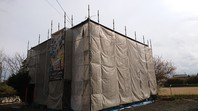 ひたちなか市 R様邸 外壁塗装(架設足場組立)