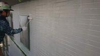 水戸市 T様邸 外壁塗装(下塗り)
