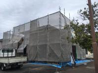 常陸太田市 U様邸 屋根・外壁塗装(架設足場組立)