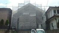 宇都宮市 M様邸 外壁塗装(架設足場組立)