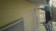 石岡市 O様邸 外壁塗装(下塗り)