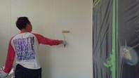 城里町 M様邸 外壁塗装(上塗り)