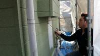 常陸太田市 N様邸 外壁塗装(下塗り・中塗り)