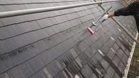 つくば市 S様邸 屋根塗装(下塗り・中塗り)