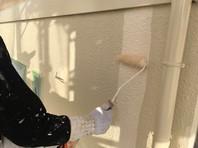 東海村 A様邸 外壁塗装(上塗り)