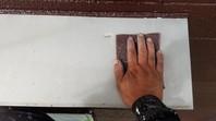 常陸太田市 N様邸 霧除け塗装(ケレン・下塗り・中塗り・上塗り)