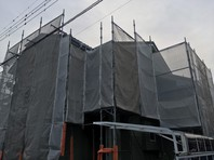 常陸太田市 N様邸 外壁塗装(架設足場組立)