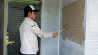 城里町 T様邸 外壁塗装(下塗り・中塗り・上塗り)