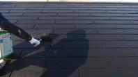 神栖市 K様邸 屋根塗装(下塗り・中塗り・上塗り)