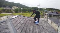 城里町 T様邸 屋根塗装(下塗り・中塗り・上塗り)