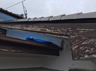 日立市 K様邸 破風塗装(ケレン・下塗り・中塗り・上塗り)