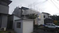 東海村 Y様邸 外壁塗装(架設足場組立)