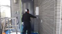 東海村 Y様邸 外壁塗装(下塗り・中塗り・上塗り)