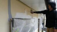 水戸市 H様邸 外壁塗装(下塗り)