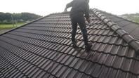 益子町 K様邸 屋根塗装(上塗り)