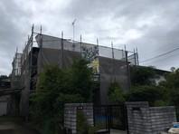 那珂市 K様邸 屋根・外壁塗装(架設足場組立)