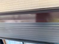 益子町 K様邸 シャッターBOX塗装(ケレン・下塗り・中塗り・上塗り)