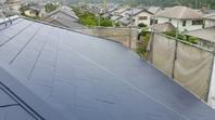 那珂市 K様邸 屋根塗装(下塗り・中塗り・上塗り)